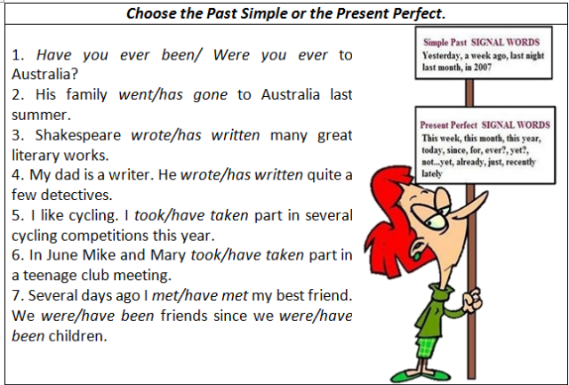 Present Perfect or Past Simple Exercise autoenglishorg