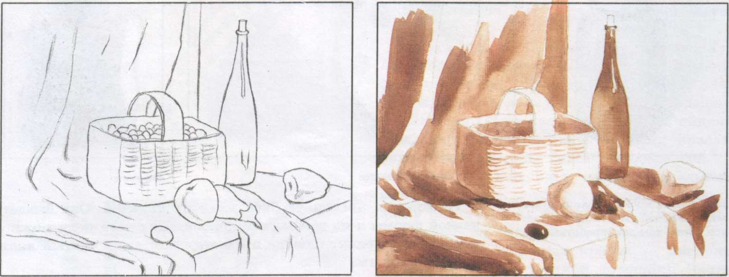5 класс зарисовки с натуры план конспект урока