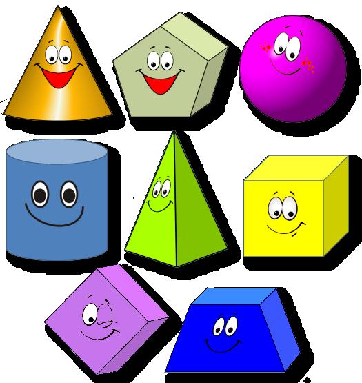 Дети и геометрические фигуры картинка для детей
